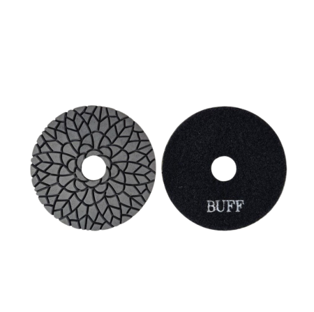 100mm Aztec Super Black Buff Pad