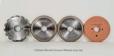 Nicolai 130mm Flute wheels for Breton CNC Machines