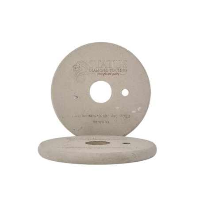 140mm x 12mm R8 30mm Ø Lux Flute Wheel Pos 3 c/w 1x Peg Hole
