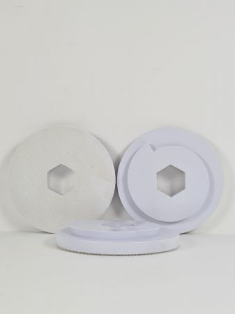 125mm Snail Lock Velcro Backing Pad White (10mm thick)