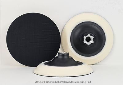 125mm M14 Velcro and Plain Moss Backing Pads