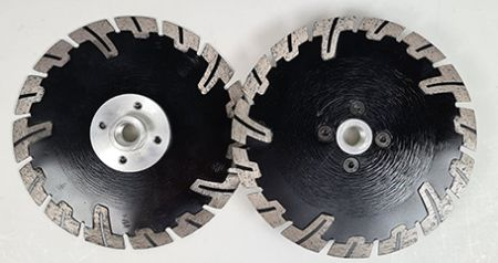 150mm Semi-Segmented Rim Blade with Side Spokes M14 Fitting
