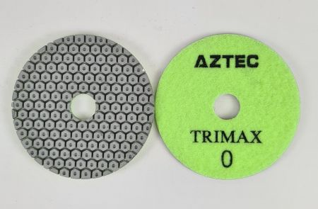 Aztec Trimax 3-Step Wet Stone Diamond Polishing Pads - Stonegate Tooling