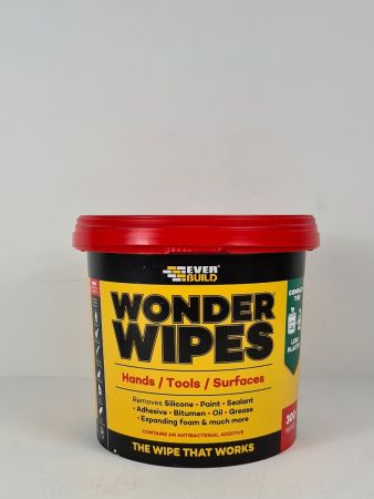 Giant Wonder Wipes Tub (300)