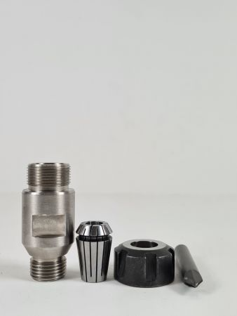 """½"""" Gas Adaptor for Engraving Cylindrical Shaft 6-10mm"""