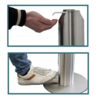 Stainless Steel Foot Operated Hand Gel Dispenser
