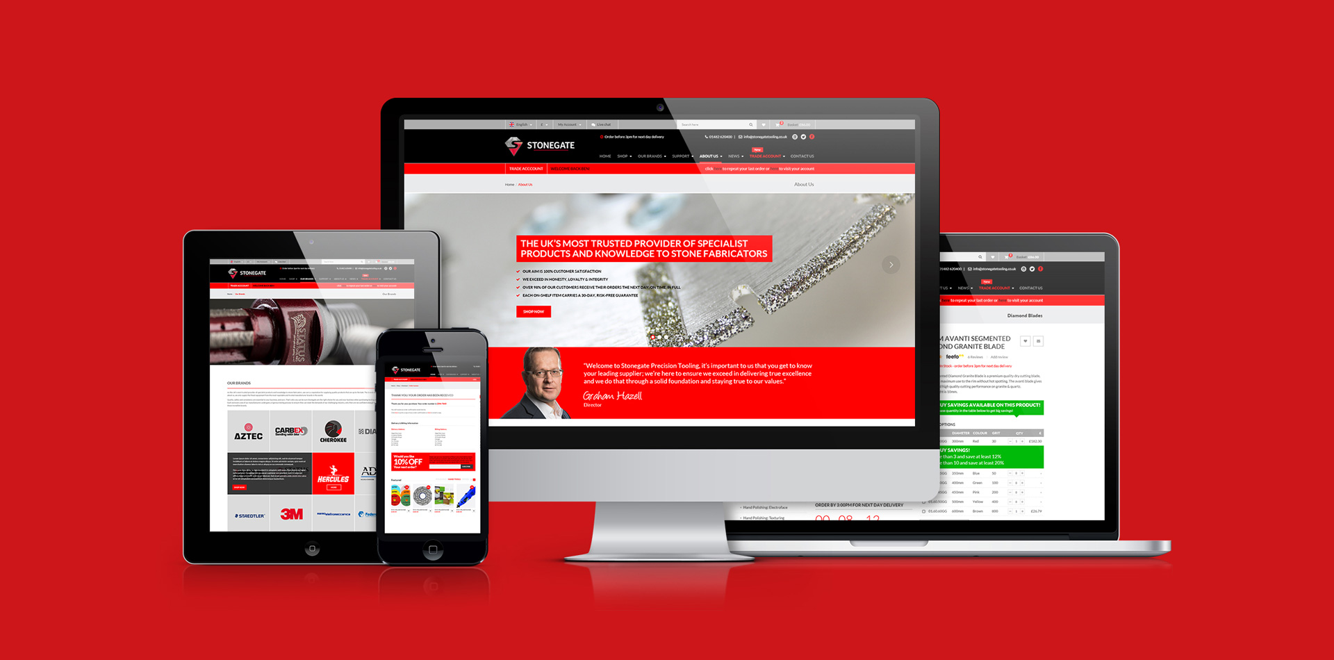 An Industry-Leading Online Experience From Stonegate Precision Tooling