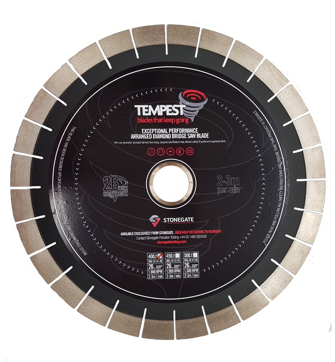 stongates the Tempest blade - Diamond bridgesaw blade
