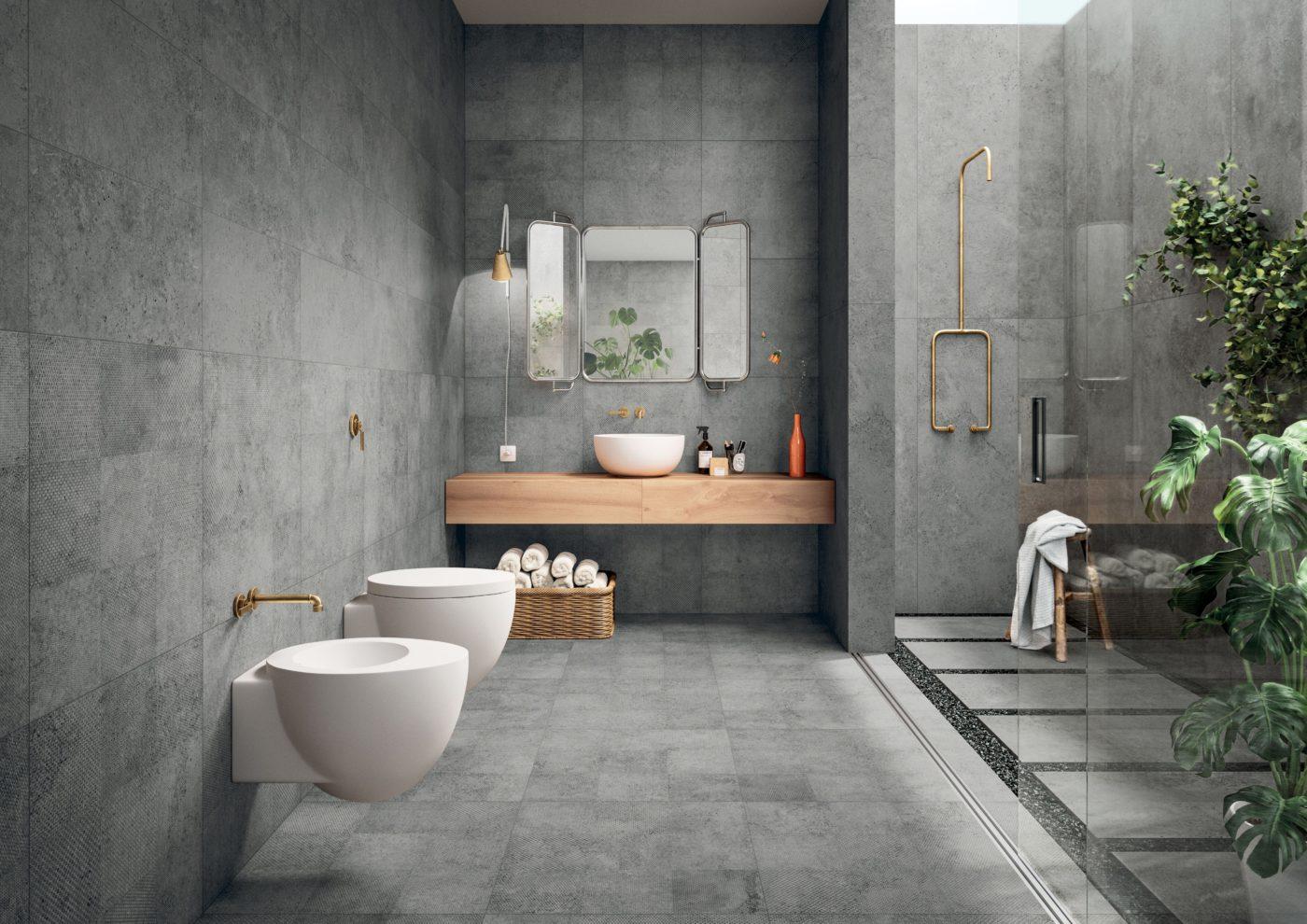 stone bathroom installation
