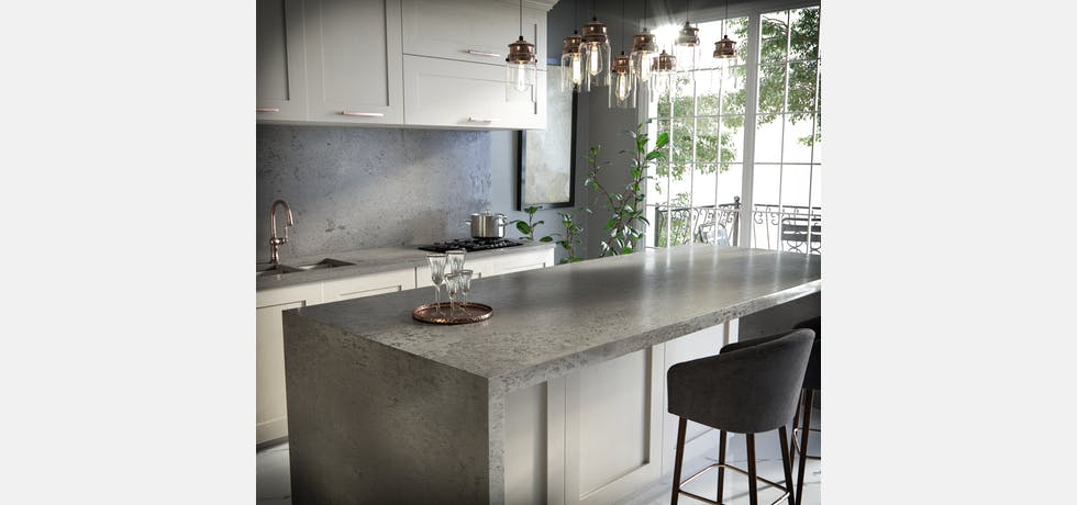 Textured kitchen silestone worktop